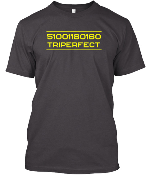 51001180160 Triperfect Heathered Charcoal  T-Shirt Front