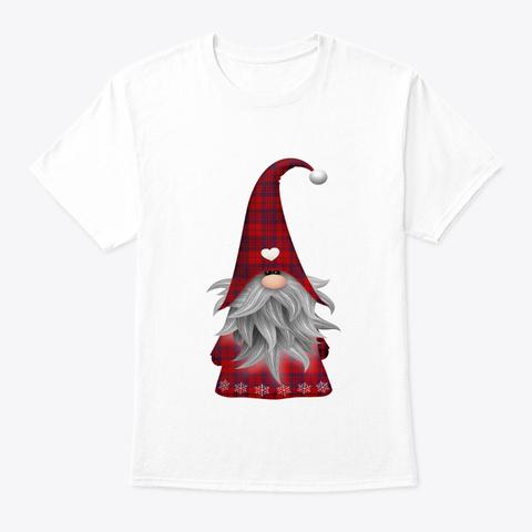 Christmas Elf Gnome White T-Shirt Front