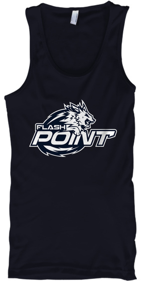 Flash Point Esports Premium Tank Tops Navy T-Shirt Front