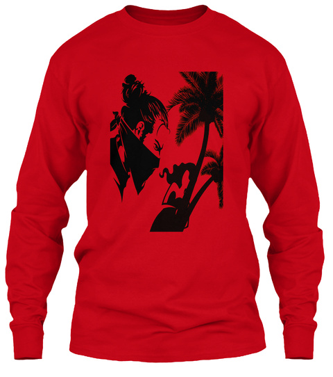 Hot Valentine 's Day Red Long Sleeve T-Shirt Front