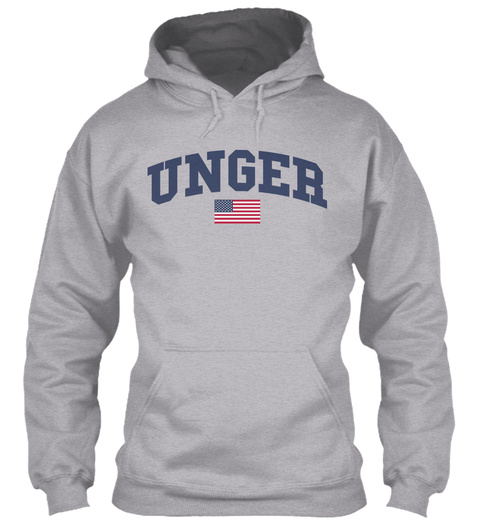 Unger Family Flag Sport Grey T-Shirt Front