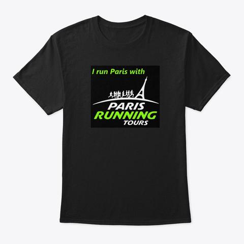 Paris Running Tours T Shirts Black T-Shirt Front