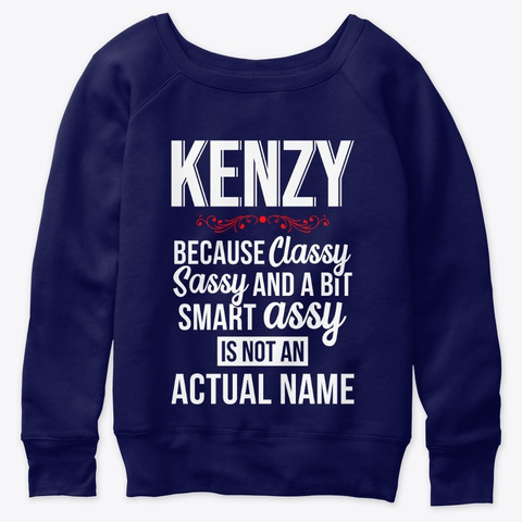 Kenzy Classy, Sassy And A Bit Smart  Navy  T-Shirt Front