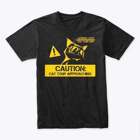 Cat Tour 2019! Black T-Shirt Front
