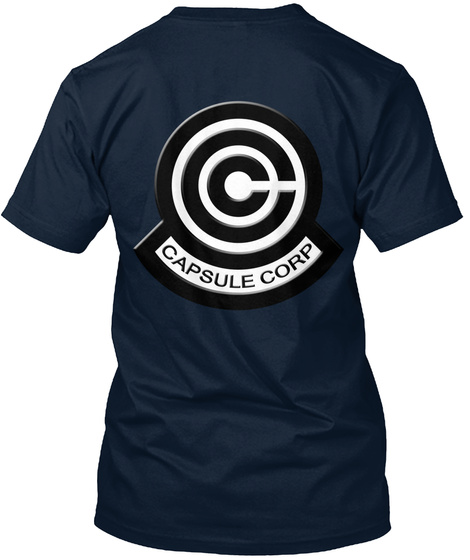 Capsule Corp New Navy Kaos Back