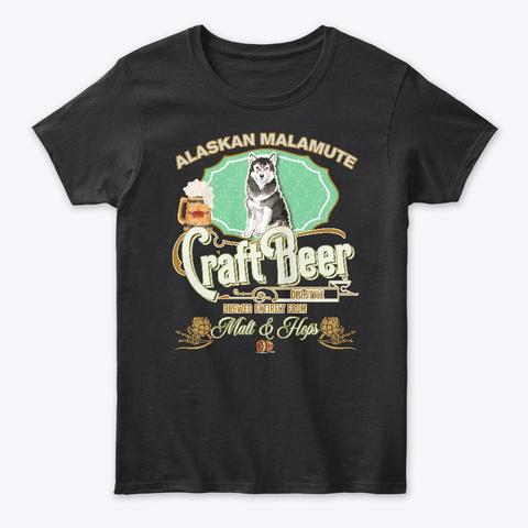 Alaskan Malamute  Gifts Black T-Shirt Front