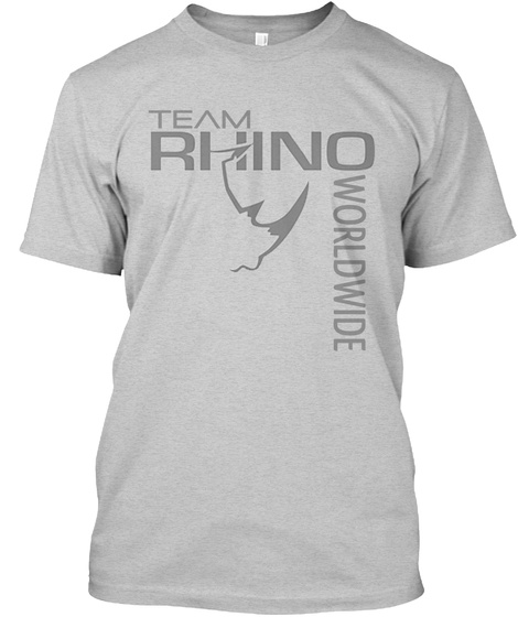 Team Rhind Worldwide Light Steel T-Shirt Front
