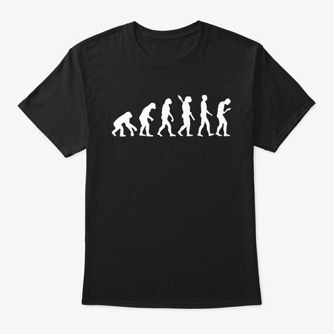 Smombie Smartphone Zombie Evolution Black T-Shirt Front