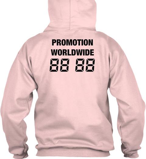 Promotion Worldwide 88 88 Light Pink T-Shirt Back