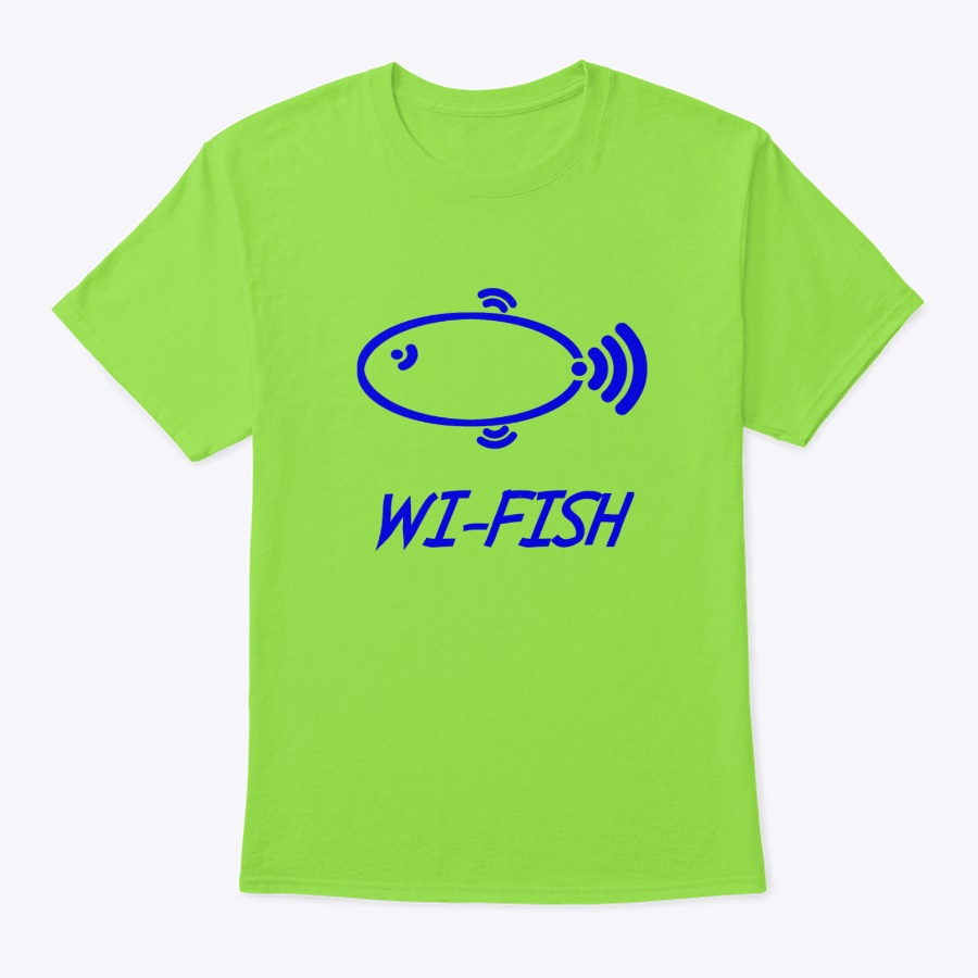 Wi-fish Wi-fi Fish Fun Design Unisex Tshirt