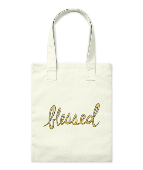 Blessed Natural Tote Bag Front