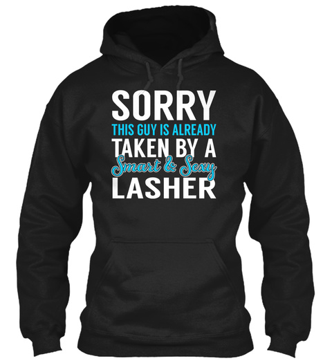 Lasher   Smart Sexy Black T-Shirt Front
