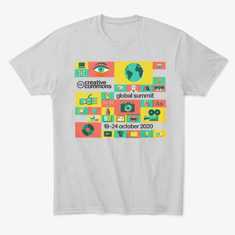 Creative Commons Global Summit 2020 Light Heather Grey  T-Shirt Front