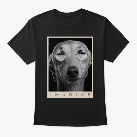 Whippet Imagine Black T-Shirt Front