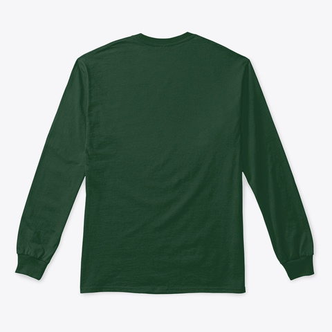 Ho Cubed   Festive Christmas Holiday Forest Green T-Shirt Back