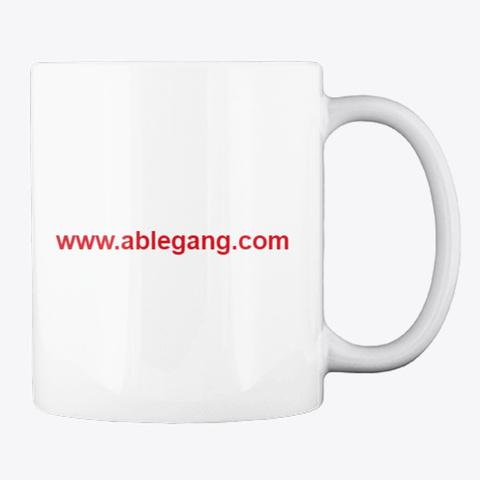 Coffee Mug White T-Shirt Back