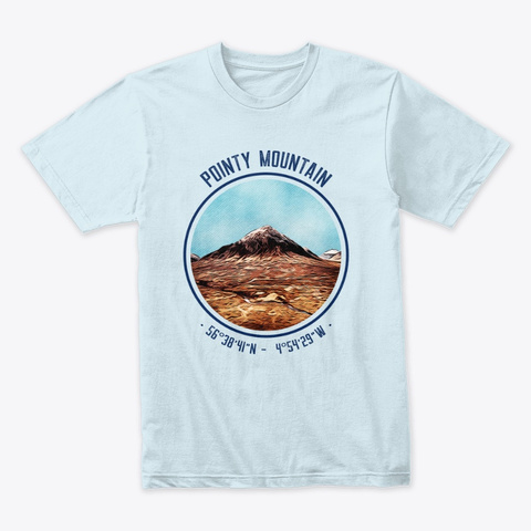 The Pointy Mountain Light Blue T-Shirt Front