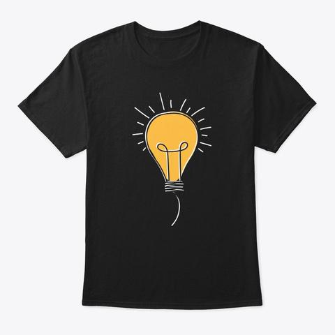 Lightbulb T Shirt Black T-Shirt Front