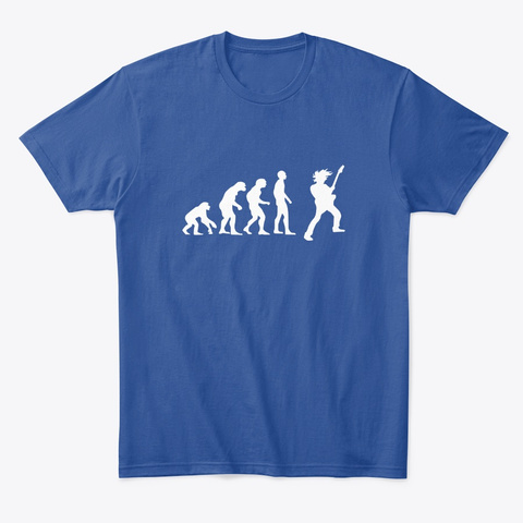 Evolution Of Man Guitar Deep Royal T-Shirt Front