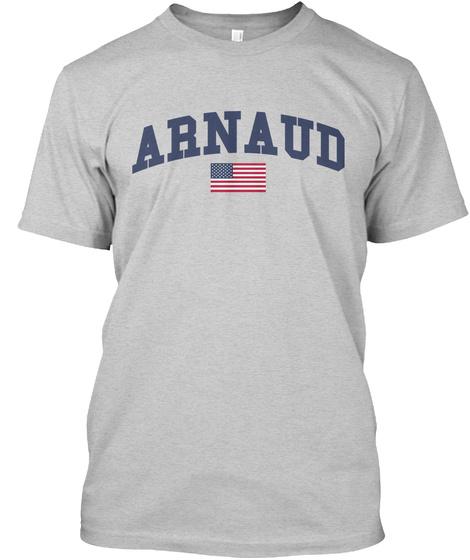 Arnaud Family Flag Light Steel T-Shirt Front
