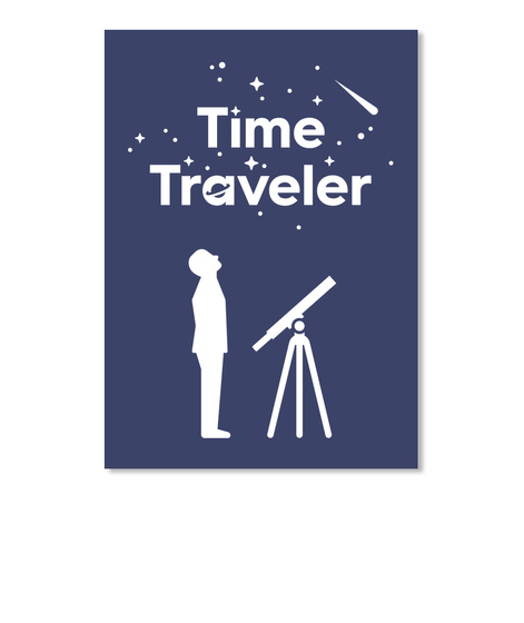 Time Traveler Man Sticker [Int] #Sfsf Dark Navy Sticker Front
