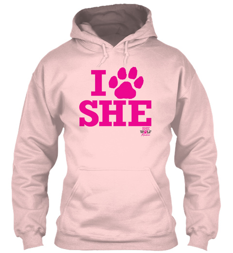 I She  She Wolf Radio Light Pink T-Shirt Front