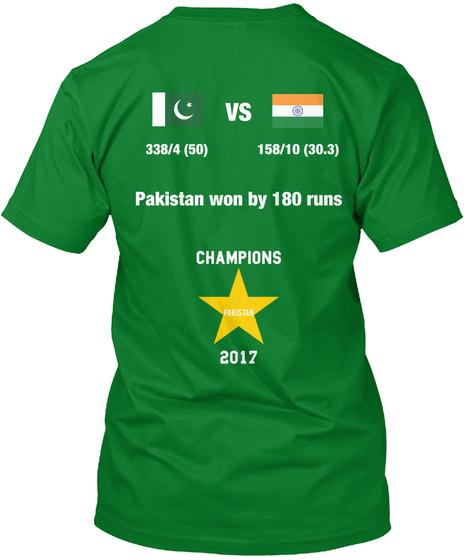 338/4(50) 158/10(30.3) Pakistan Won By180 Runs Champions Pakistan 2017 Bright Green Kaos Back