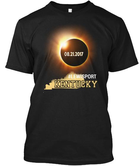 Eclipse Lewisport Ky. Customizable City Black T-Shirt Front