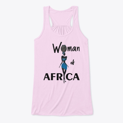 Woman Of Africa Soft Pink T-Shirt Front