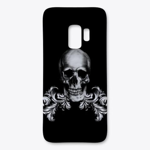Gothic Skull Samsung Case Black T-Shirt Front