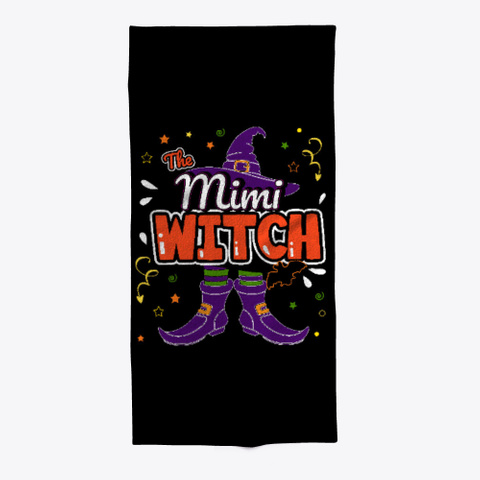 Mimi Witch Halloween Group Matching Black T-Shirt Front