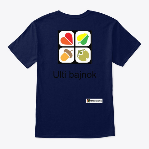 Ulti Bajnok Navy T-Shirt Back