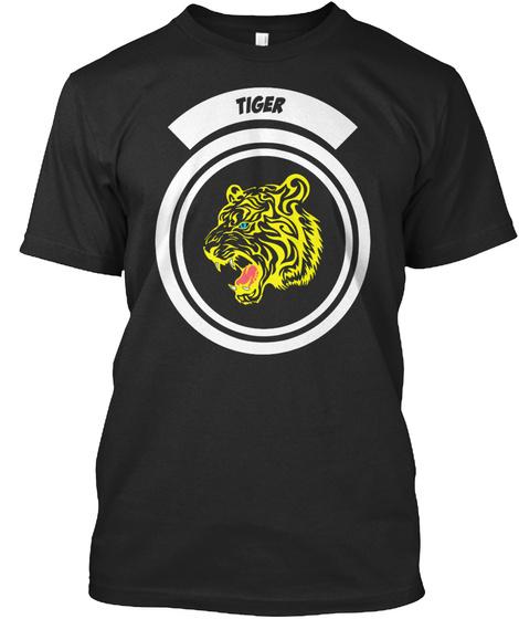 Love Tiger T Shirt Black T-Shirt Front