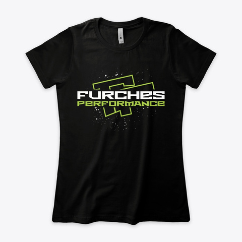 Og Furches Performance Women's Tee Black T-Shirt Front