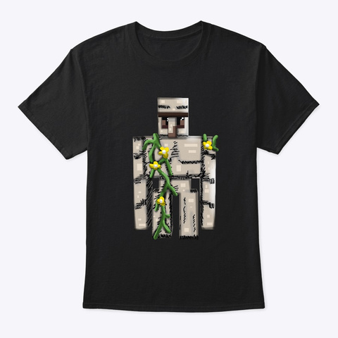 The Iron Golem Clayink Custom Art Black T-Shirt Front