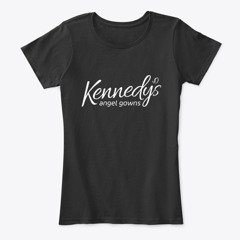Kennedy's Angel Gowns Black T-Shirt Front