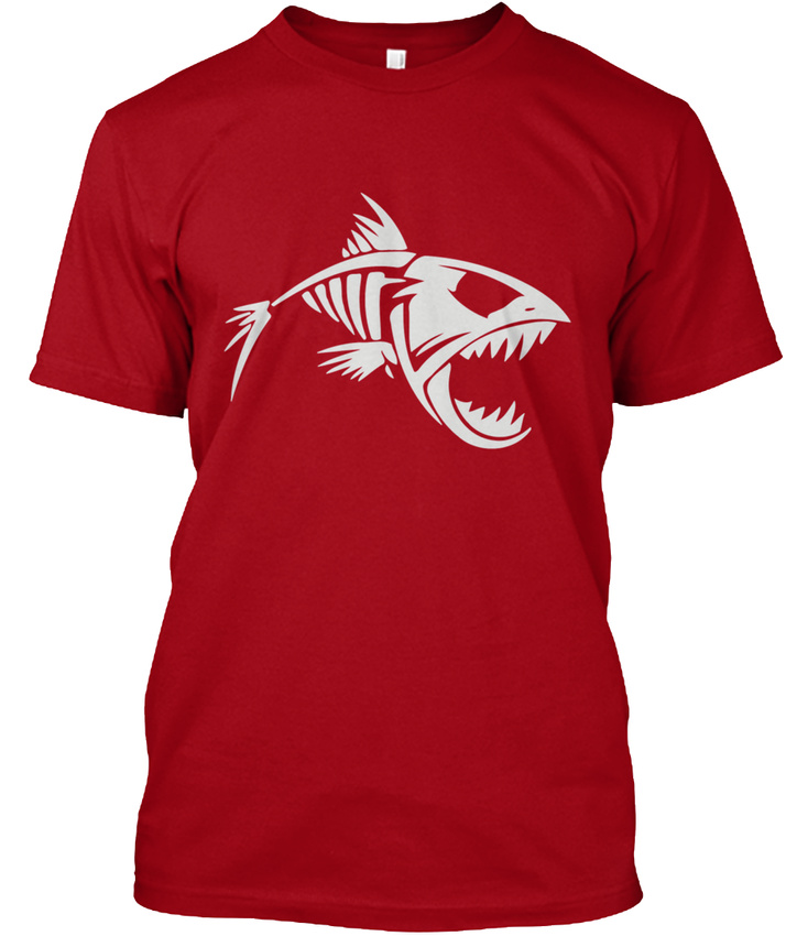 b37800e86f5a Image is loading Skeleton-Fish-Mens-Premium-Hanes-Tagless-Tee-T-