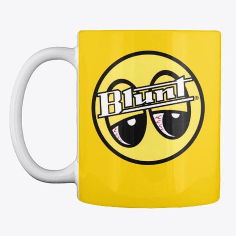 Blunt Red Eyes Coffee  Mug Lemon Yellow T-Shirt Front