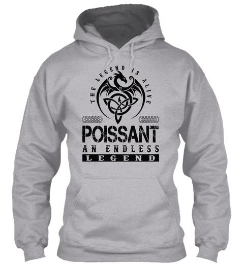 Poissant   Legends Alive Sport Grey T-Shirt Front