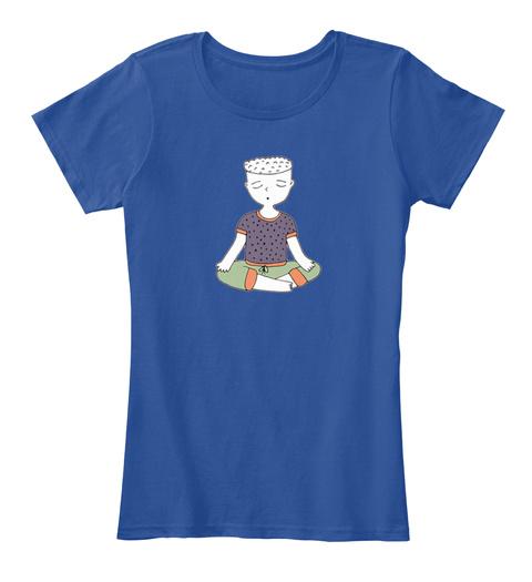 Wise Healthy Wealthy Meditator Deep Royal  Camiseta Front