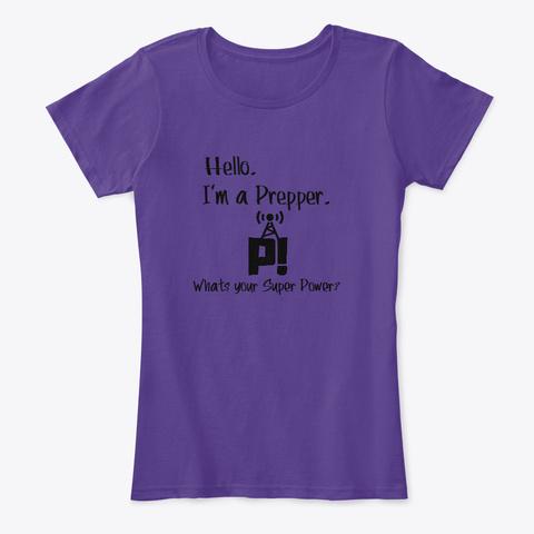 Prepper Power!  Purple T-Shirt Front