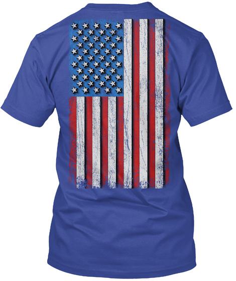 Papaw: Real American Hero Deep Royal T-Shirt Back