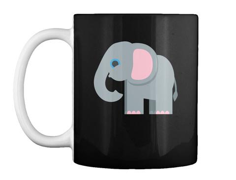 Elephant Mug Black Mug Front