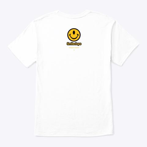 Smileclops™ Eye Love Football White T-Shirt Back
