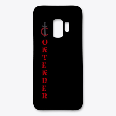 Contender Phone Case Black T-Shirt Front