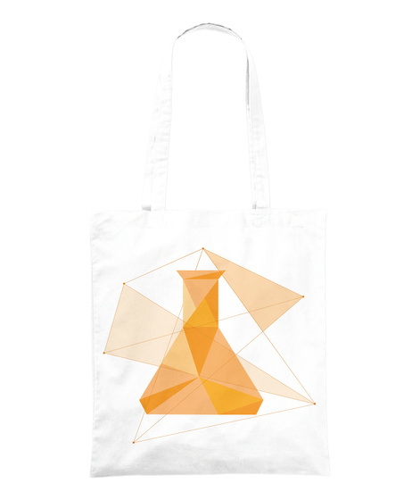 "Tote Bag ""Erlenmeyer""   Matière Grise White Tote Bag Front"
