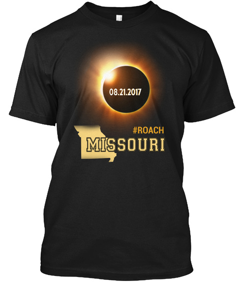 Eclipse Roach Mo. Customizable City Black T-Shirt Front