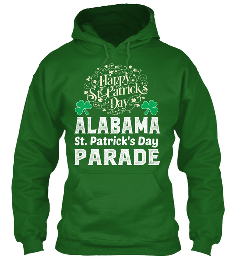 Happy St. Patrick's Day Alabama St. Patrick's Day Parade Irish Green T-Shirt Front