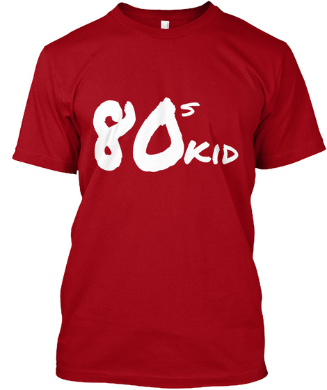 80 S Kid Deep Red T-Shirt Front