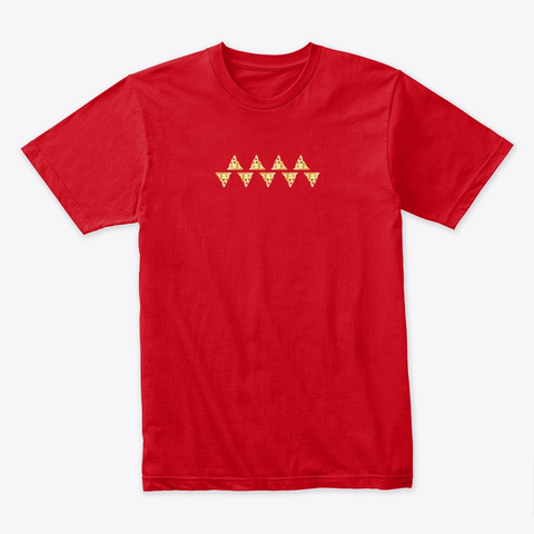 Pizza Tribe Red T-Shirt Front